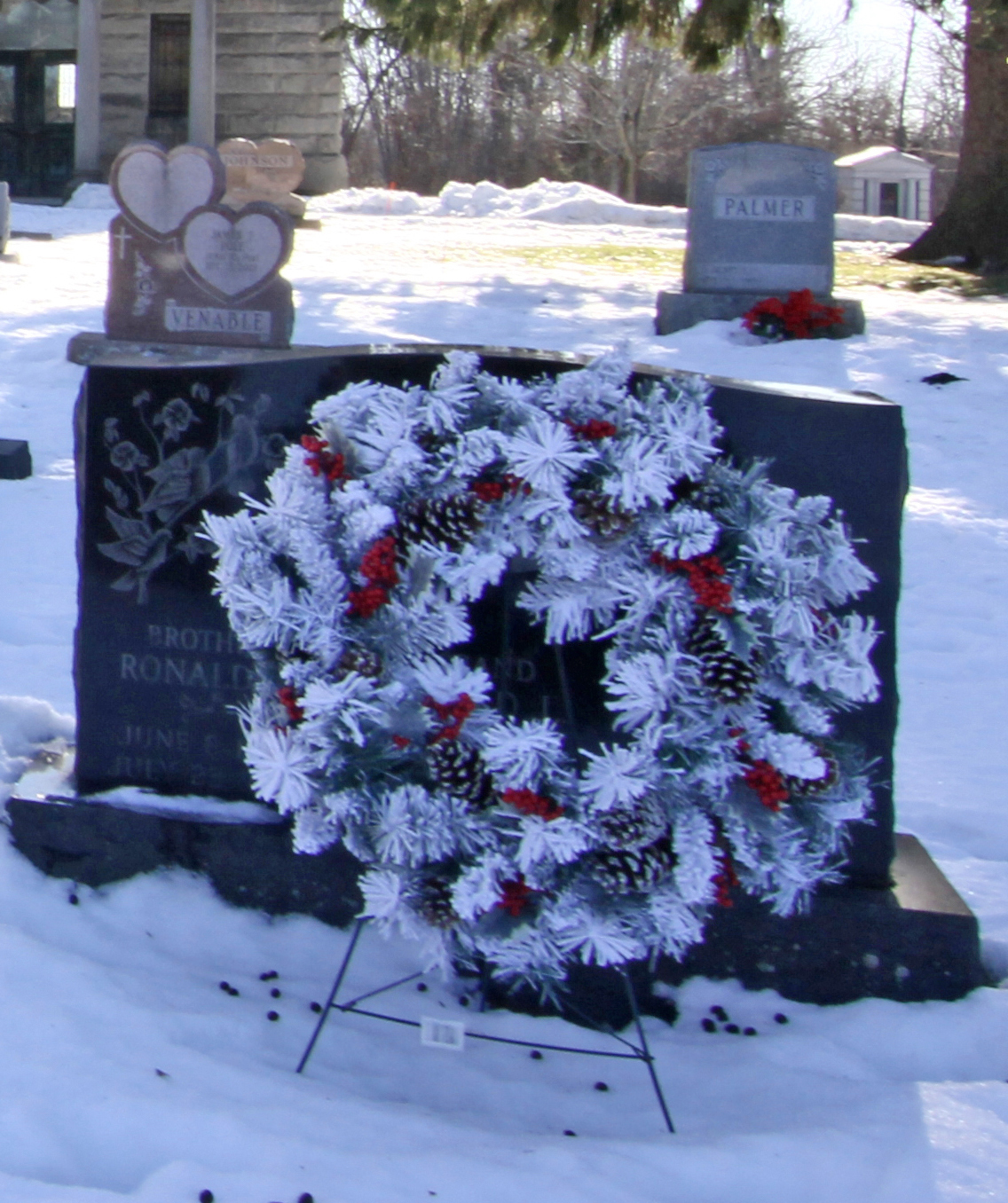 Gravestone with Wreath