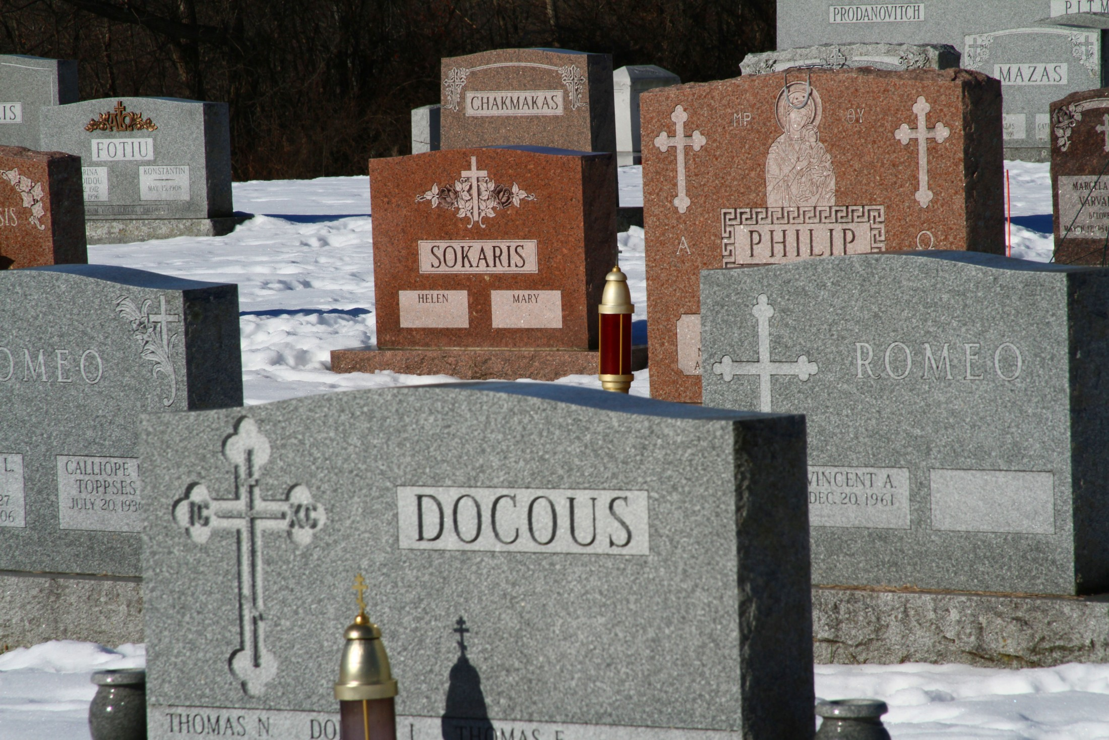Gravestones Close-up