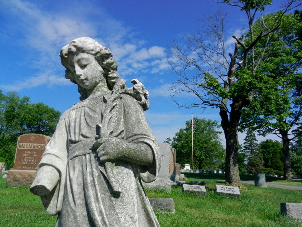 Angel Statue Gravestone